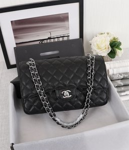 Hot Classic caviar lady crossbody bag Fashion Vintage Handbags Women Designer Wallets for Chain Bag high quality 1113 Leather handbag 30cm