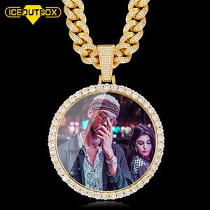 Nuevo gran tamaño grande redondo personalizado collar collar collar personalidad hombre hip hop joyería exageración rap estilo cúbico circonia cx200725