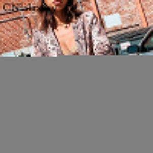 CNlalaxury Tierschlangendruck Frauen Blazer und Jacken der koreanischen Blazer feminino mujer Taschen Oberbekleidung weibliche Casual Tops