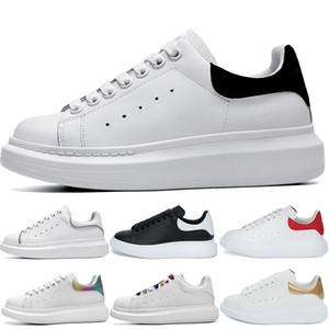 2020 Yeni Erkek Ayakkabı Moda Kadınlar Kutu Boyutu 36-45 ile Mens Deri Lace Up Platformu Boy Sole Sneakers Siyah Beyaz Casual Shoes