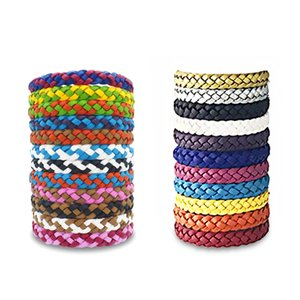 Mosquito Repellent Bracelet Stretchable Leather Woven Hand Wristband Insect Repellent Band Pest Control Bug Protection Bracelets DBC BH3653