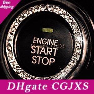 Interruptor de encendido del coche 10x Accesorios Motor Start Stop Push Button perilla llave del interruptor de brillantes cristales decorativo anillo de ajuste