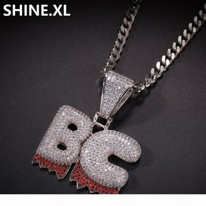Hip Hop Custom Name Bubble Letter Gold Silver Color Plated New Style Iced Out Micro Paved CZ Stone Necklace for Men Women