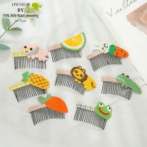 Children's little girl's anti-skid cute animal bangs flower pin girl's headdress fruit card Fruit hair comb hair comb