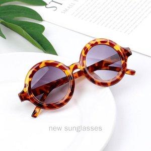 MINCL   round sunglasses 2020 new Round Child glasses girl leopard print sun glasses UV400 summer women eyewear NX