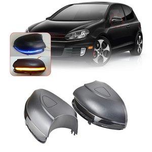 LED 동적 블 사이드 미러 순차 표시 신호 광의 바겐 VW 골프 6 MK6 GTI 6 R 선 VI R20 투란 우회전