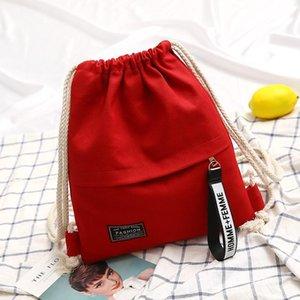 Toile Drawstring Backpack école de sport sac de rangement en toile Drawstring pack Rucksack poche pour l'école Back Pack pour ados