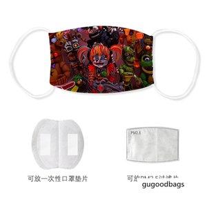 Naoshima Freddy imprimé anti-brouillard tampon filtrant masque glace soie de lavage