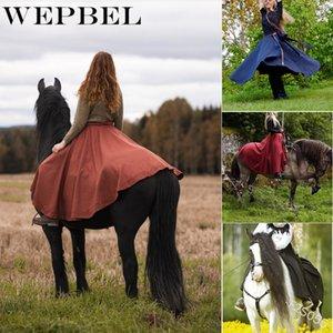 Solid Casual Colore Gonne esterna del WEPBEL alte donne della vita irregolare Nazionale Style Lace-Up Caviglia-Lunghezza Gonne