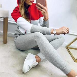 Perimedes Frauen Anzug Sweatshirt Hose Sport Sets Dame Trainning Übung Sätze Sport Langarm-beiläufige Klage-Sets tragen # g25