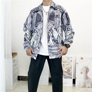abito camicia abbigliamento di marca seestern 3D stampa a maniche lunghe party club progettista della camicia discoteca serpente degli uomini degli uomini della camicia Medusa