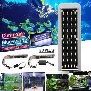 LCD 디스플레이 클립에 15W 수족관 고품질 LED 라이트 오버 헤드 담수 플랜트 램프 조명 생선 새우 모스 탱크