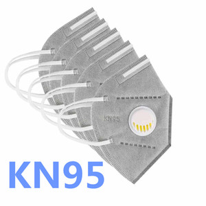 Free Shipping! Face Mask with Valve Reusable Mask Anti Pollution Dustproof Filter In Stock Fast Delivery