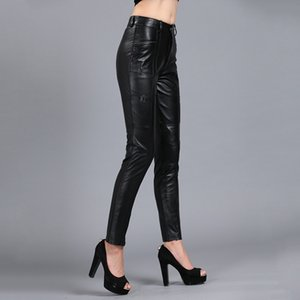 Lady Genuine Office Women Motorcycle Skinny Real Leather Pencil Pants Slim Plus Size 5XL Trousers Female Autumn