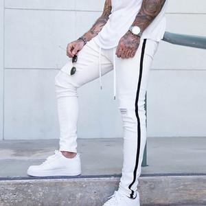 KANCOOL 2020 Buraco Hip-hop calças rasgadas Moda Masculina Jeans slim Men Jeans tamanho grande Marca magro estiramento Slim Fit Pants