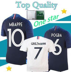 2018 19 MBAPPE GRIEZMANN POGBA KANTE FRANCIA Футбол футбол 2018 финальный чемпионат мира рубашка Top Tailand Quality Dembele Maritial футбол Джерси