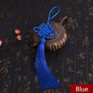 2pcs Good Luck Chinese Knot Tassel Craft Home DIY Pendant Car Ornaments Gift Mascot Exquisite Handwork Jewelry Making Fringe