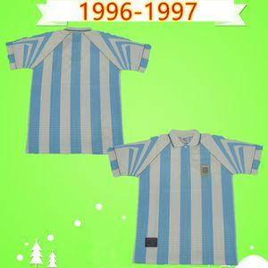 Argentina 1996 1997 Retro Soccer Jersey home Vintage Classic commemorate antique Collection 96 97 football shirt BATISTUTA ORTEGA VERON