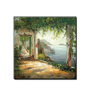 Hot Home Decor HD Spray Printed Mordern Lakeside Scenery Oil Painting Wall Art Picture on Canvas for Living Room No Framed