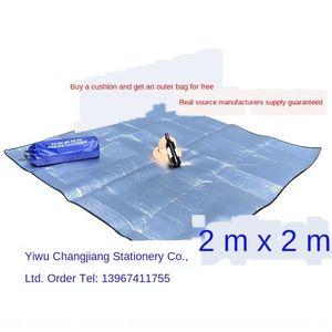 مباشرة 2 * 2 مقاوم للرطوبة الأرضية الطعام الطابق فيلم الألومنيوم حصيرة حصيرة نزهة