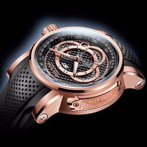 Tiger Reef relojes deportivos RT para hombres reloj de cuarzo de oro rosa con cronógrafo y fecha RGA3063