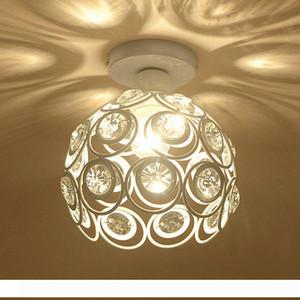 E27 Yaratıcı Kristal Minimalist Tavan Işık Basit Tavan Lambası Yatak Alley Basit Avrupa Beyaz Demir Lambası Kristal Lambası