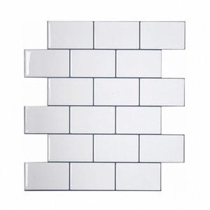 Vividtiles más gruesa blanca metro Azulejos despegar y pegar azulejos de la pared palo en Entrepaños de cocina para el parachoques 1 Hoja 4itZ #