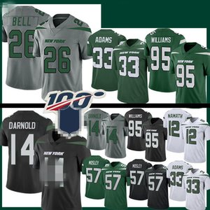 14 Sam Darnold 26 Le'Veon Bell New Jersey Football IorqueJet 33 Jamal Adams 57 C. J. Mosley 12 Joe Namath 95 Quinnen Williams
