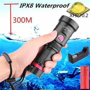 IPX8 Waterproof XHP70 Professional Super Poderosa Bright LED Mergulho Diver luz subaquática Tocha Lanterna