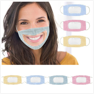 Face For Clear Deaf-Mute Face Lip Anti Dust Reusable Washable Face Mouth With Visible Pvc Window Adults Transparent Cover Mask DHL Mask Dmwk
