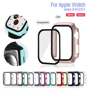 Cam + Kutu İçin Elma İzle Series 5 4 44mm 40mm iWatch 3 2 1 42mm 38mm Temperli Tampon Ekran Koruyucu + Kapak Elma İzle Aksesuarları