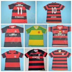 1982 1988 1990 2004 2008 2009 CR retro jersey del fútbol GUERRERO Flamenco de la vendimia de fútbol DIEGO ROMARIO ADRIANO brasileña Kits de la camisa del tamaño