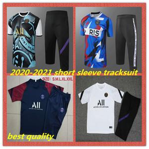 2020 2021 Jordan Paris psg survêtement à manches courtes pantalon court costume d'entraînement de football MBAPPE CAVANI 20 21 3/4 pantalon Psg ensemble uniforme de football
