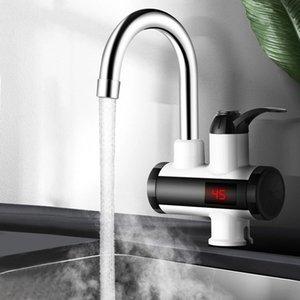 3000W eléctrico inmediato Calefacción grifo mezclador Coldhot temperatura Digital Display de baño Cocina sola manija del golpecito de agua