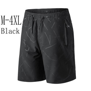 Comfortable Breathable Black Short Pants For Men Summer Relaxed Casual High Street Trousers Sports Running Cycling Riding Pants FY9112