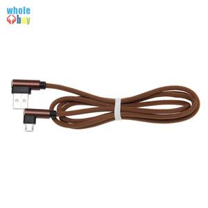 Cable de datos en forma de L 2m mayor de la alta calidad de 90 grados Tela Juego de cable Micro / Tipo C USB para Xiaomi Huawei HTC Samsung