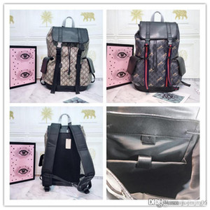 GG techno canvas backpack animal Shoulder Day Bag Brocade size:34x42x16cm