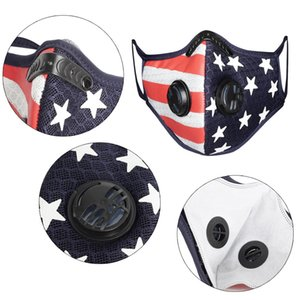 Cycling Face Mask Sport Outdoor Masks Anti-dust Pollution Defense Running Mouth Cover Activated Carbon Filter Washable Mask LJJP102