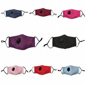Maschera anti-polvere Earloop con la respirazione maschere valvola regolabile riutilizzabile bocca morbida e traspirante antipolvere maschere Designer RRA3291