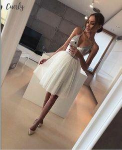 2020 New Arrival Sexy Halter Deep V Womens Sequin Elegance Dress Evening Party Mini A Line Dress