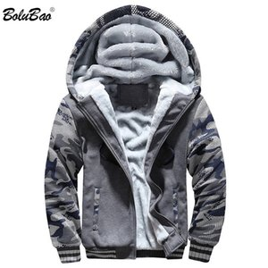 BOLUBAO Winter New Men Casual Hoodies Men's Thick Warm Hooded Sweatshirts Brand Clothing Camouflage Hoodie Sweatshirt Male