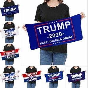 Toalhas de microfibra Trump toalha de rosto eleição americana Bandanas Quick Dry absorvente Sports Scarf fazer América Great Again Imprimir toalhas LSK340