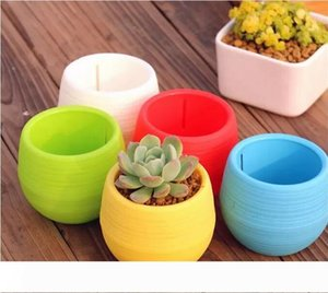 200pcs Gardening Flower Pots Small Mini Colorful Plastic Nursery Flower Planter Pots Garden Deco Gardening Tool Free shipping