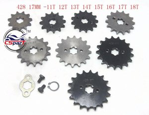 11T 12T 13T 14T 15T 16T 17T 18T Tooth 428 17MM Front Engine Sprocket For Lifan ZongShen ATV Quad Dirt bike Buggy tzuF#