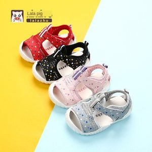 G91On Lala pig baby soft bottom toddler male Baby Head children children sandals 1-3 years old Sandals children's shoes children's shoes 2-1