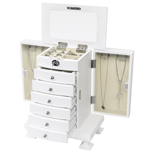 Retro European jewelry cabinet dressing table bedroom multi-function chest of drawers solid wood storage cabinet new locker simple