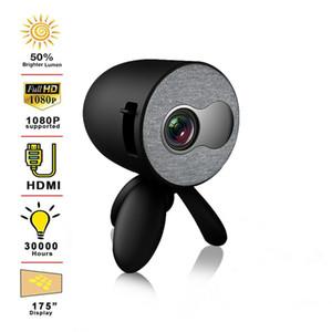 YG220 Mini projecteur est compatible avec téléphone portable avec l'écran même 1080P projecteur multimédia Lecteur vidéo Enfants cadeau Portable Pocket Beamer