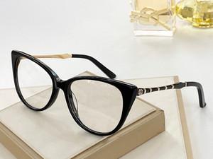 2020 Nouvelle arrivée 8060G Femmes Big Cateye Lunettes Cadre exquisites Plank + métal Bamboo-joint design de prescription étui à lunettes plein set UV