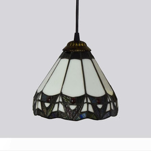 Tiffany Pendant Light Stained Glass Shade Art Deco Style Dining Room Bedroom Living Room Decor Hanging Lamp