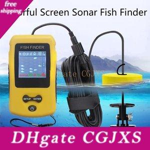 Портативный ЖК-Sonar Fish Finders Рыбалка инструменты эхолот Рыбалка Finder цветной экран Handheld Fishfinder Глубина считывания 1м